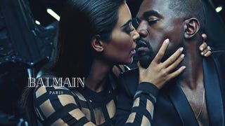 Caption This Ad for Balmain Featuring Kim Kardashian and Kanye West