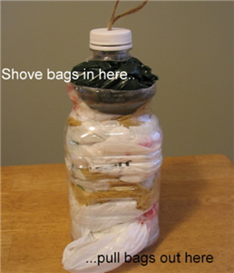 Got bags? Make a plastic bag keeper
