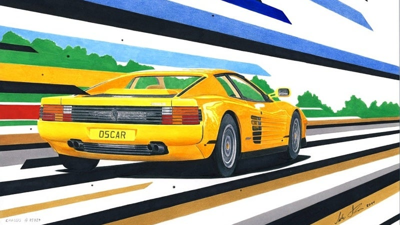 Slovenian artist creates sensational drawings of supercars