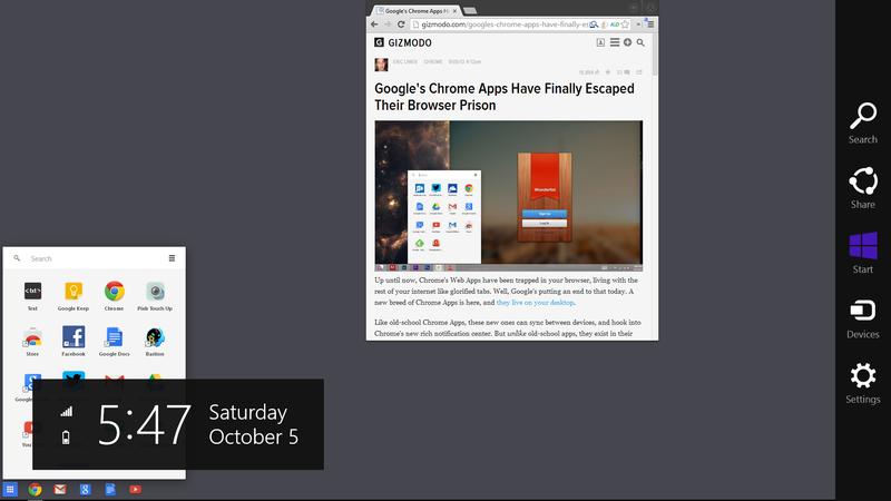 """Google Is Sneaking Chrome OS Into Windows 8's """"Metro"""" Mode"""