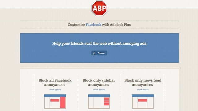 Adblock Plus Now Blocks Facebook's Biggest Annoyances