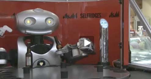 Asahi Bartending Robot Will Give You a Drink, Take Your Pride