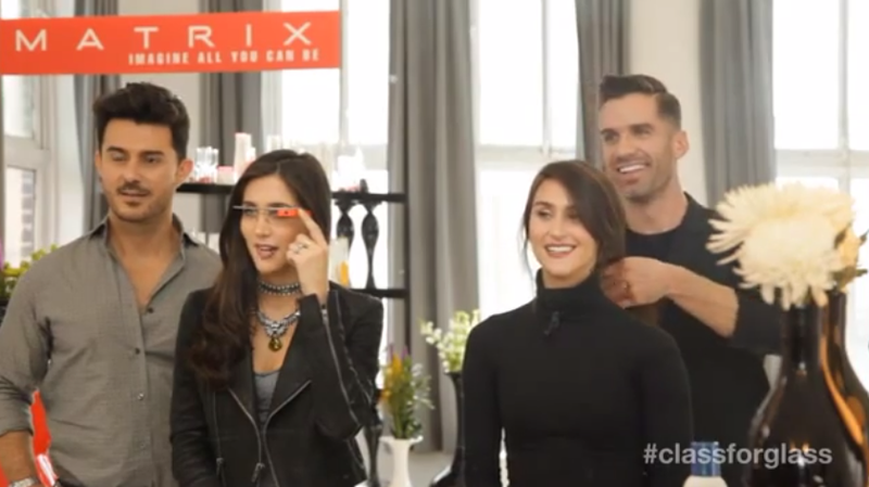 Watch Four People Pretend You Need Google Glass to Make a Ponytail