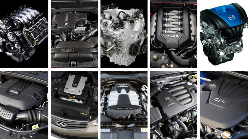 Ward's 2012 Best Engines list loaded with direct injection