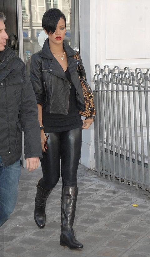 Rihanna: Latest Victim Of Ubiquitous Shiny Legging Trend