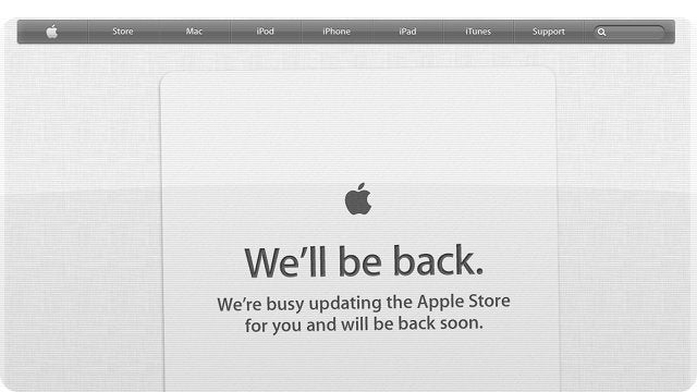 The Apple Store Is Down: Here Come Some Shiny New MacBook Pros?
