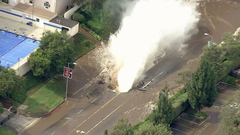 UCLA Campus Flooded After Water Main Breaks