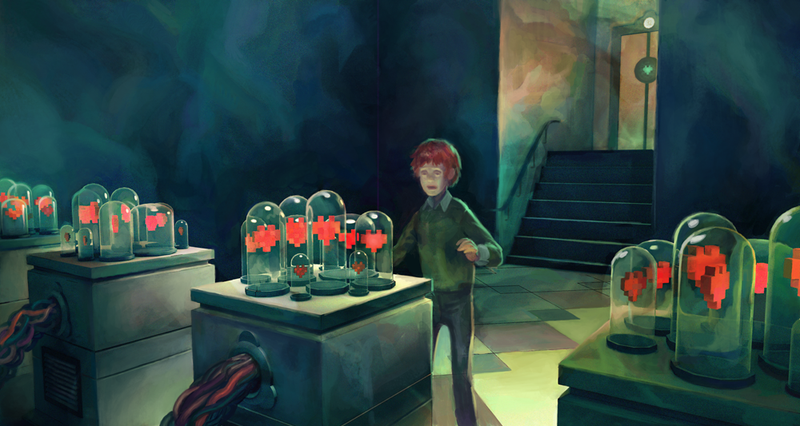 Concept Art Writing Prompt: A Boy in the Hall of Hearts