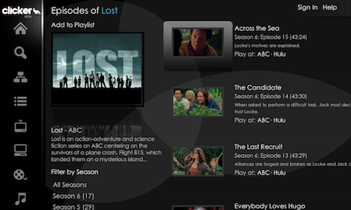 Clicker.tv is a Remote-Friendly Webapp for Streaming TV