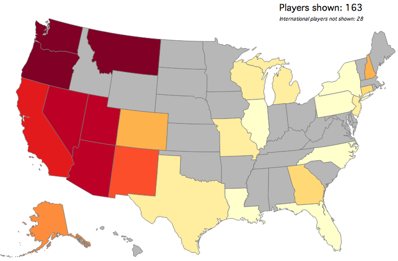 Map: Which States Produce The Most College Basketball Recruits?