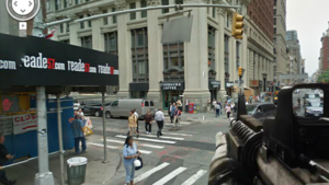 You can shoot up the world in Google Street View