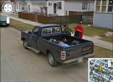 Google Street View Spots One Chunky Man's Funky Truck Party