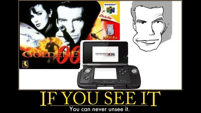 Separated at Birth? The 3DS' New Gimmick and James Bond's Weird Face