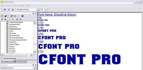 Cfont Pro Previews and Organizes Fonts for Free