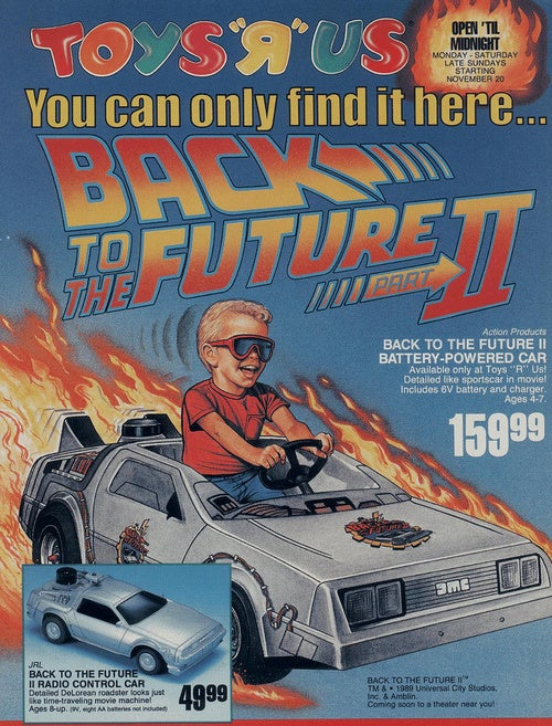 This Back to the Future toy car can't go 88 MPH (but is still way rad)