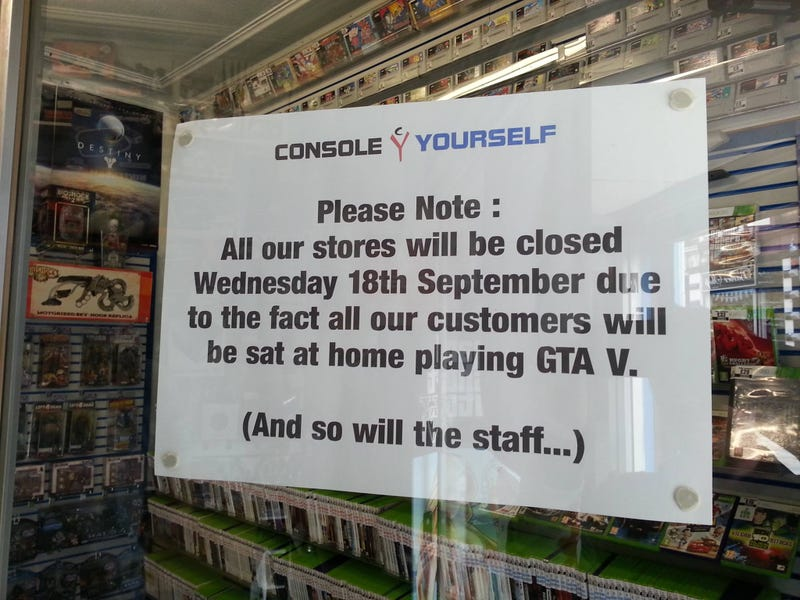 You Aren't The Only One Taking A Day Off For Grand Theft Auto V