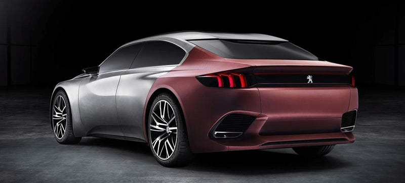 The Back Of The Peugeot Exalt Concept Is Just Blushing