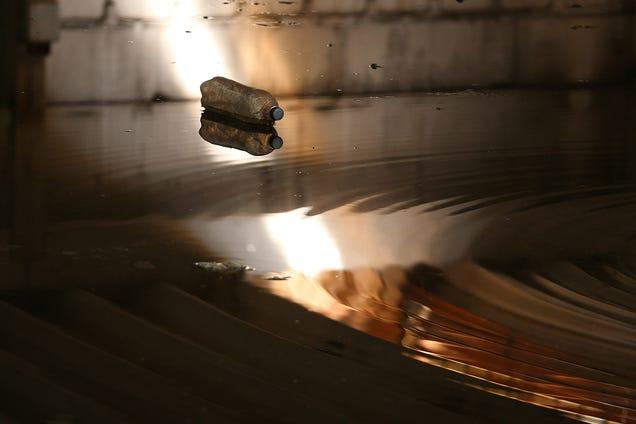 Abandoned Shipyard Halls Look Magical After Heavy Rain