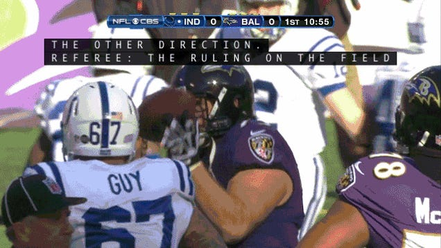 Ray Lewis Lined Up One Last Time In Baltimore And Drooled All Over Himself: Ravens-Colts In Four GIFs