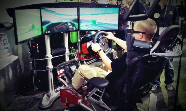 This is How Nvidia Wants You to Play Racing Games... if You've Got $32k