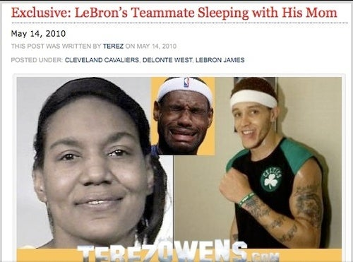 Boston Radio Hosts Hang Up On Delonte-Banged-LeBron's Mom Rumor Monger