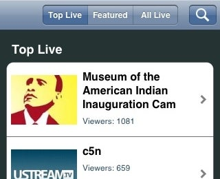 Ustream iPhone App Available in App Store
