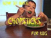 Make kid-friendly chopsticks