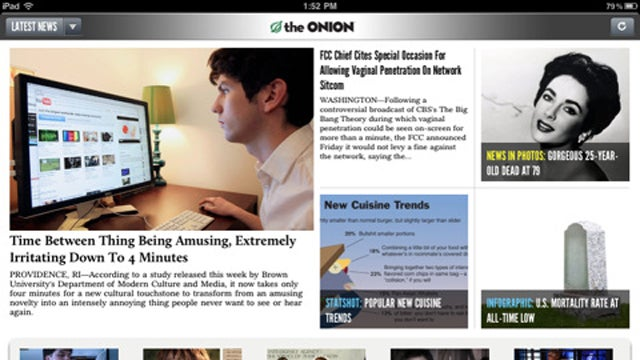 The Onion Releases Its Real iPad App on the Day That Everything Else is Fake