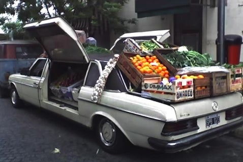 The Argentinean Mercedes 240 of Produce