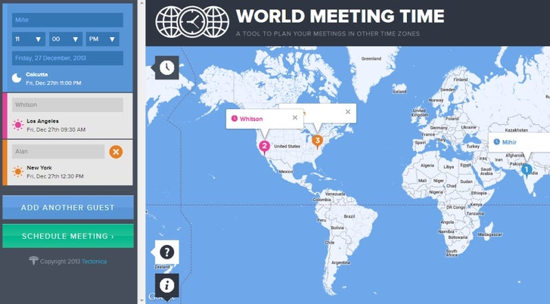 World Meeting Time Plans Appointments in Different Time Zones
