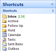 Switch Between Outlook Modules with Keyboard Shortcuts
