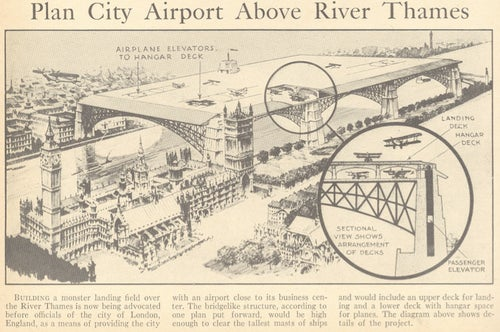 The whimsical inner city airports that never came to pass