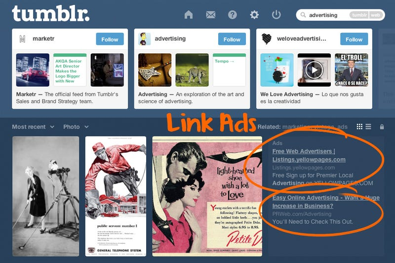 Tumblr Is Now Using the Saddest Kind of Online Advertising