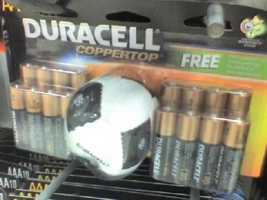 Weird Combo of the Day: Batteries & Soccer Ball