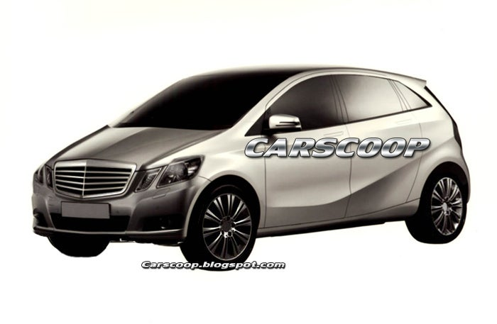 2011 Mercedes B-Class Patent Drawings Reveal Shapely Hatchback