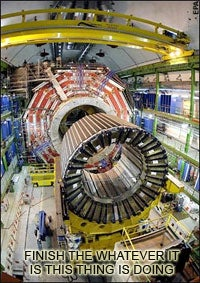 Large Hadron Collider - And Halo Was Its Name-O