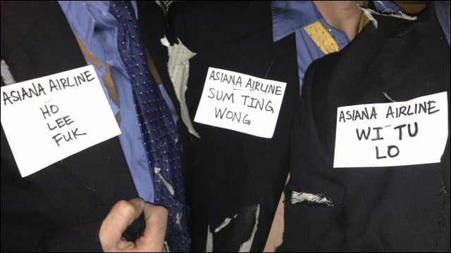 Don't Dress Up Like 'Bloody Asiana Airlines Pilots' Either