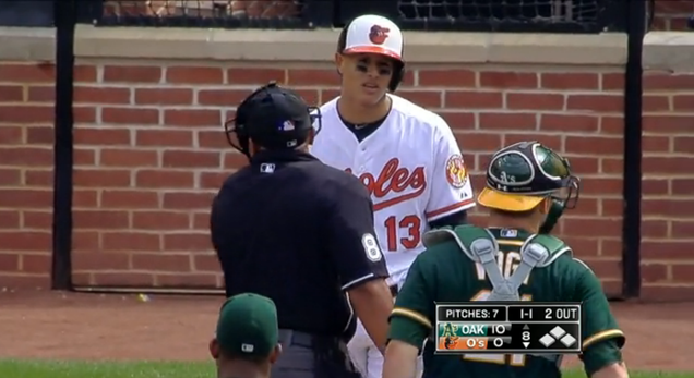 Manny Machado Flings Bat Onto Field, Benches Clear Again