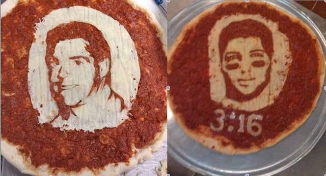 Tim Tebow And Nick Saban Pizza Portraiture Is A Thing Now