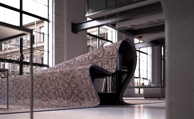This Carpet-Covered Sofa Is Uncomfortable Brilliance