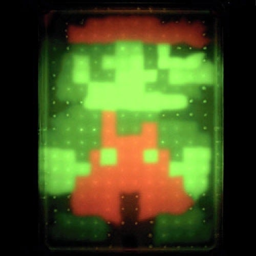 Mario Recreated In Petri Dish