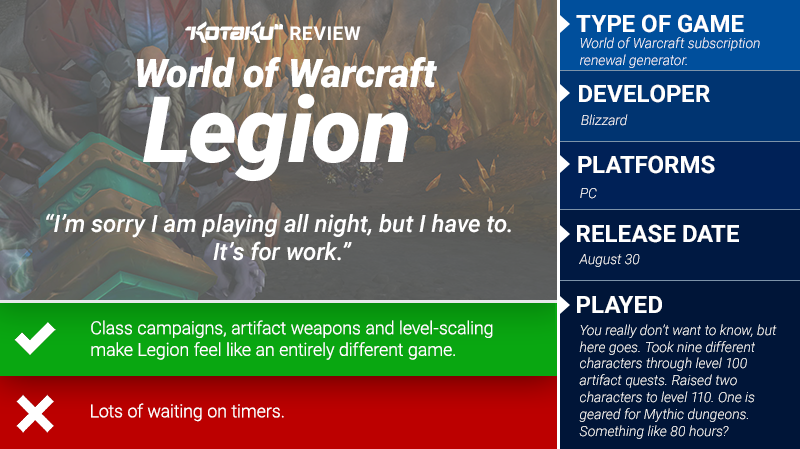 World Of Warcraft: Legion: The Kotaku Review