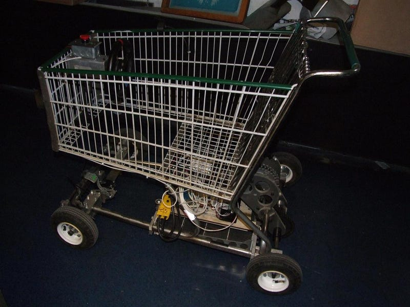 Electric Shopping Go-Kart Makes For Speedy, Stealthy Grocery-Getting