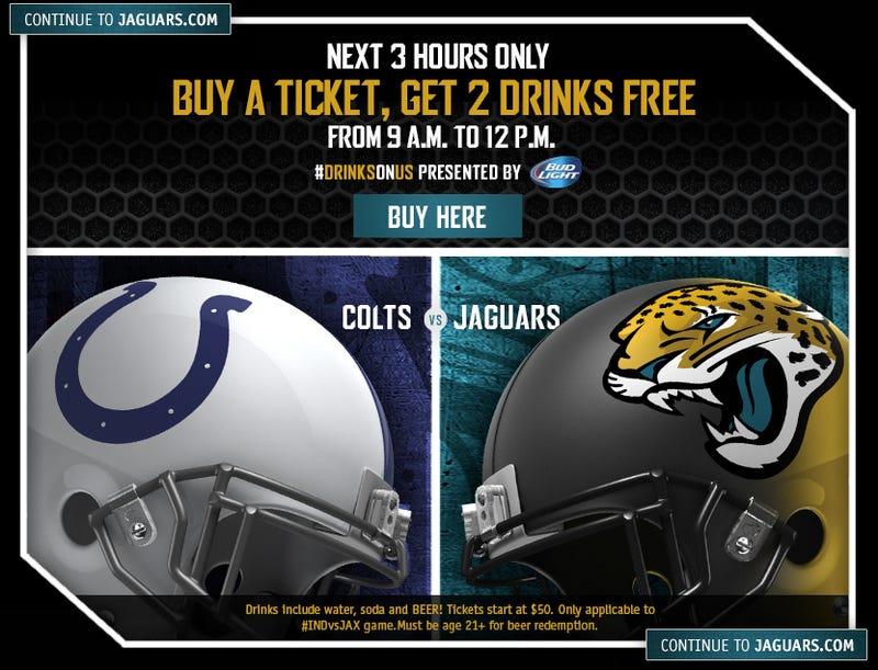 Jaguars Offer To Get You Drunk In Exchange For Attending Jaguars Game