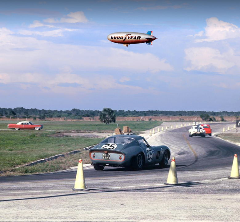 The Greatest Motorsport Picture Ever Has A Ferrari 250 GTO And A Blimp