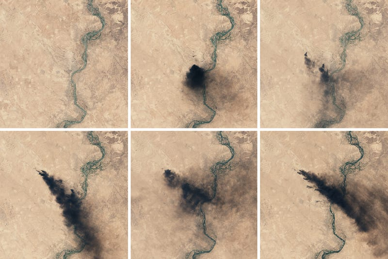 These Oil Wells in Iraq Have Been Burning For Months