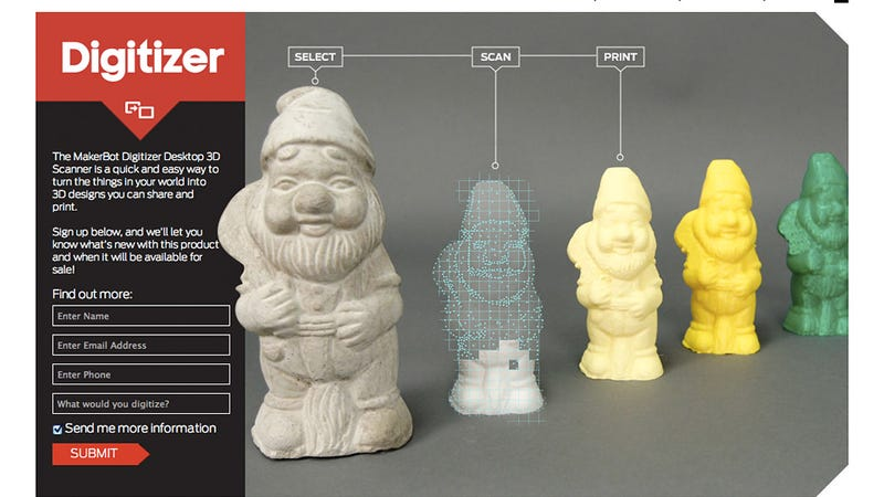 MakerBot's Desktop 3D Scanner Is a Real-Life Star Trek Replicator