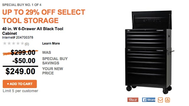 Deals: $100 at Lowe's for $90, Tool Storage of All Sizes, Dropcam