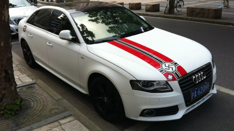 Chinese Audi With Swastika Stickers Is Stupid And Misguided