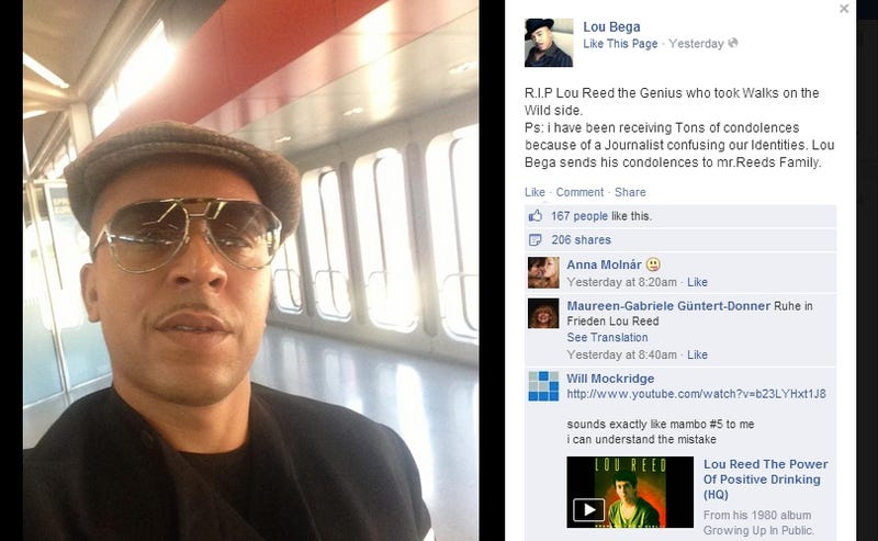 Twitter Trolls Mourn Lou Reed's Passing with a Lou Bega Death Hoax